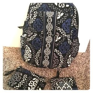 Vera Bradley backpack,wallet,license holder